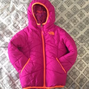 Girls 4T north face reversible winter jacket